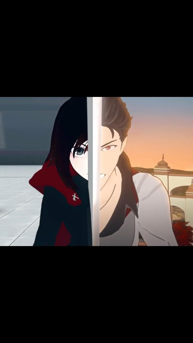 Ruby & Qrow. No doubt about it; Qrow's her real father.
