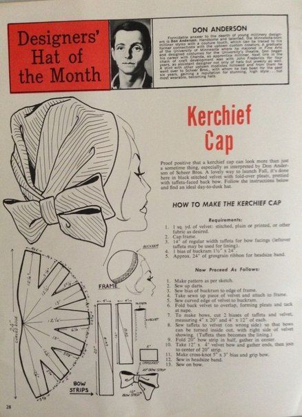 Designers' hat of the month - kerchief cap