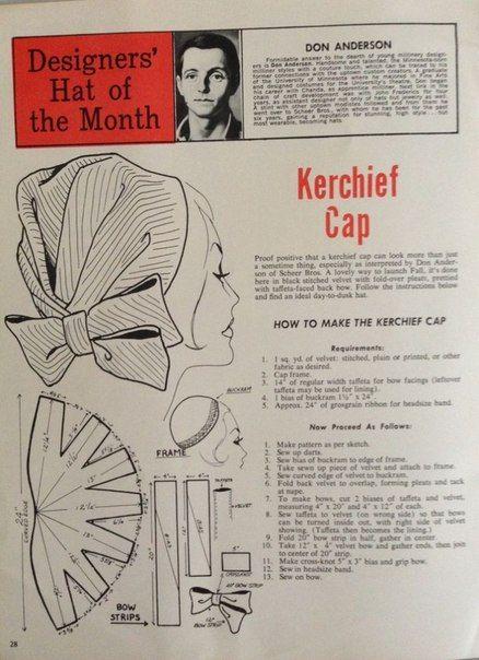 Designers' hat of the month - kerchief cap