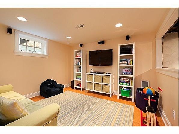 #Craftsman #Bungalow #Portland #basement #media #room