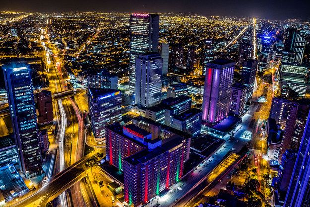 Bogota at night. Community Post: A Trip Through The Land Of Magical Realism