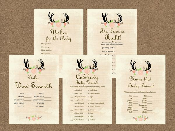 Rustic Baby Shower Games Printable Package, Baby Shower Games Download, Baby Shower Games Price is Right, Country Baby Shower Games TLC21, antlers, woodland, forest, outdoor, burlap, deer, moose