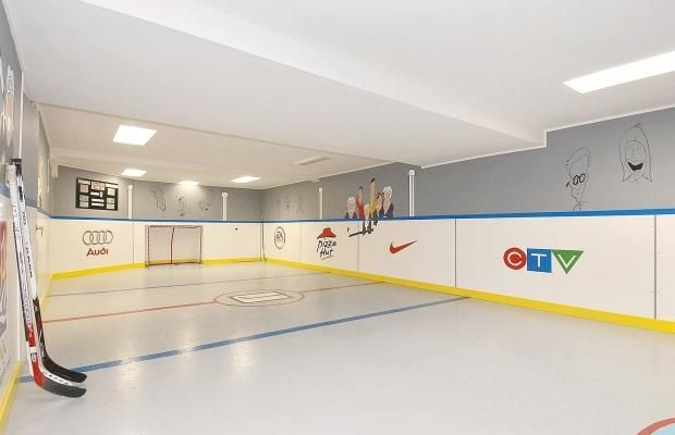 basement hockey rink