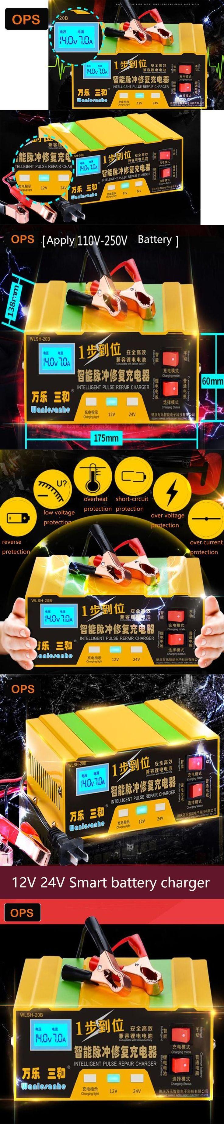 Motorcycle/Car 12V 24V Lead Acid &Lithium battery Smart Pulse Repair charger  Motorfiets Volt pure koper Slimme Acculader