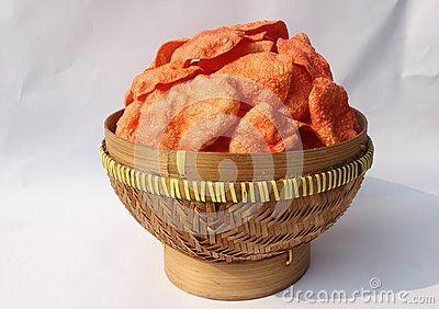 Indonesian Traditional Food called kerupuk