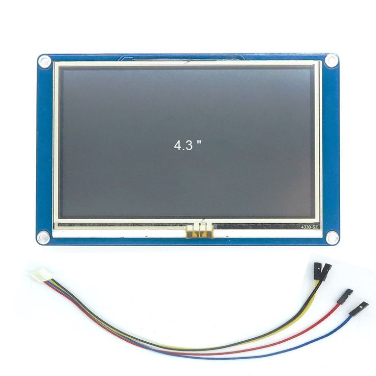 DIYmall Nextion 4.3 inch English Version UART LCD Display for Arduino https://www.aliexpress.com/store/product/4-3-TFT-480x272-resistive-touch-screen-display-Nextion-4-3-HMI-LCD-Display-Module-TFT/406986_32445348442.html