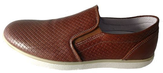 Mens brown loafers, made in Italy