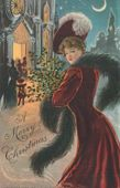 Send a Vintage Postcard Online: Vintage Christmas Greeting Card Dated 1906
