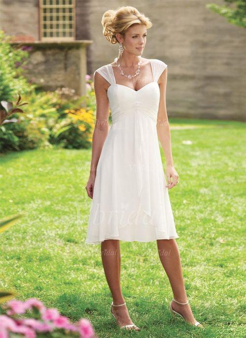 ... Hochzeitsfeier Nein Frühling Sommer Elfenbein Weiß Brautkleid