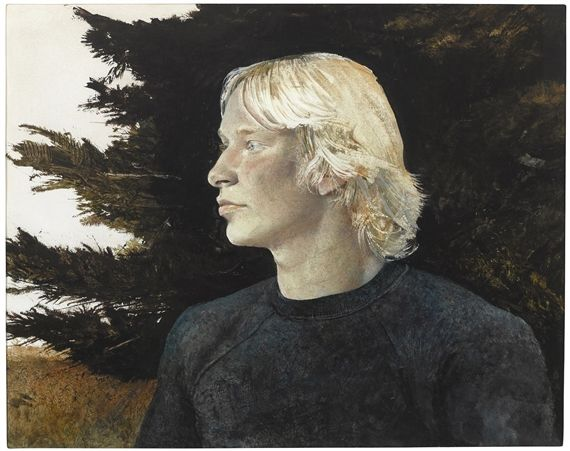 Artwork by Andrew Wyeth, Hawking, Made of Drybrush and pencil on paper