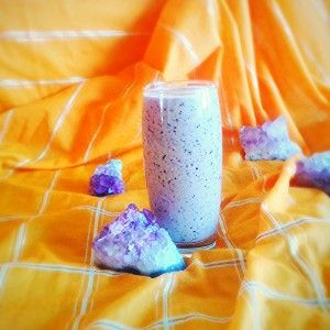 Blueberry muffin smoothie met chia en kokosolie - Biologisch Superfood van SuperfoodMe