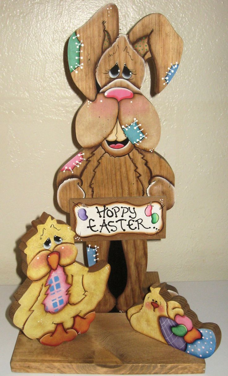 Easter Centerpiece,Wood Bunnys,Easter Decor,Painted Easter Decor,Hoppy Easter Decor,Wood Bunny Decor,Country Easter Decor,Easter Gifts by jusbcuz on Etsy