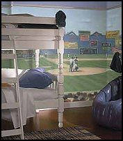 Baseball Mural   Add Some Fun To The Bedroom With Baseball Murals. Fun  Baseball Room