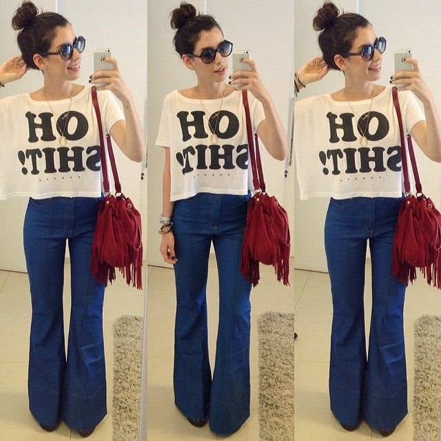 .@garotasestupidas   Jeans and tshirt for today!! ️ Apaixonada por essa calca da Amapô! A camiseta...   Webstagram