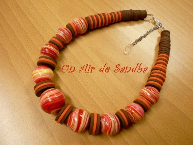 Collier boules Tribal Coreiya (3)