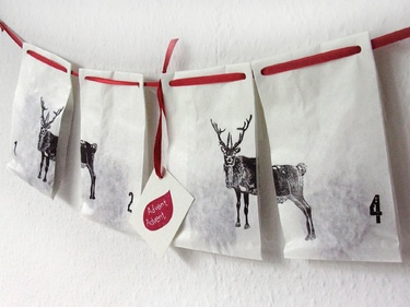 advent calender - reindeer