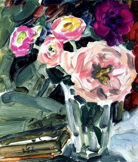 Elizabeth Peyton, Flowers and Actaeon, 2009elizabeth-peyton #art