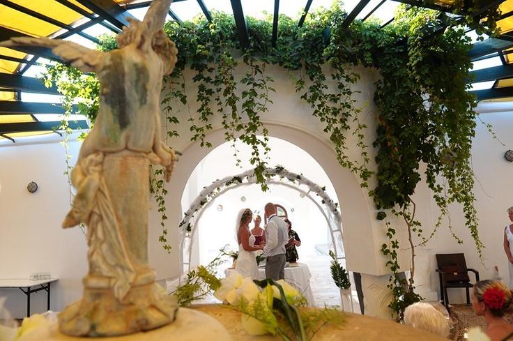 Wedding couple at the Kalithea Spa