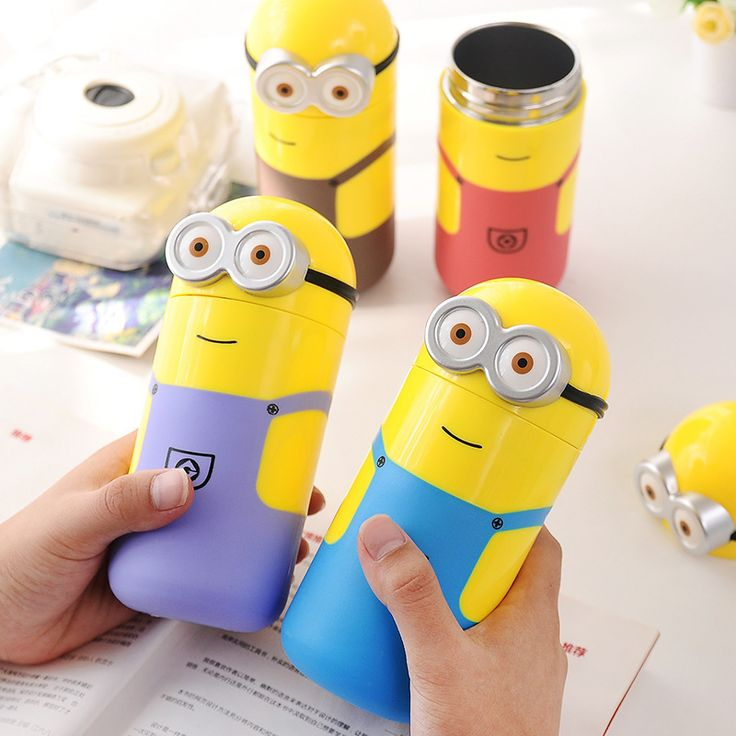 Despicable Me 2 Minions Vacuum Flasks Stainless Steel Thermos Mug 240ml Child Kid Thermal Bottle Thermocup Gifts-in Vacuum Flasks & Thermoses from Home & Garden on Aliexpress.com | Alibaba Group