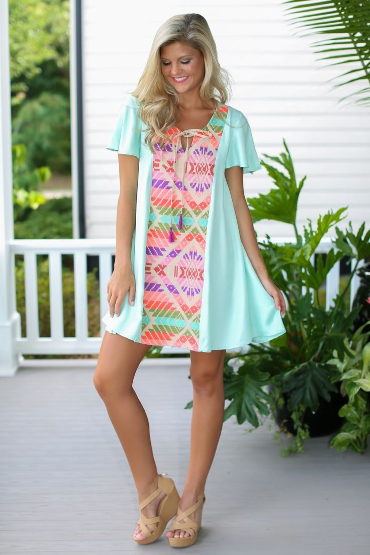 Judith March Malibu Mint Jacquard Dress at reddressboutique.com