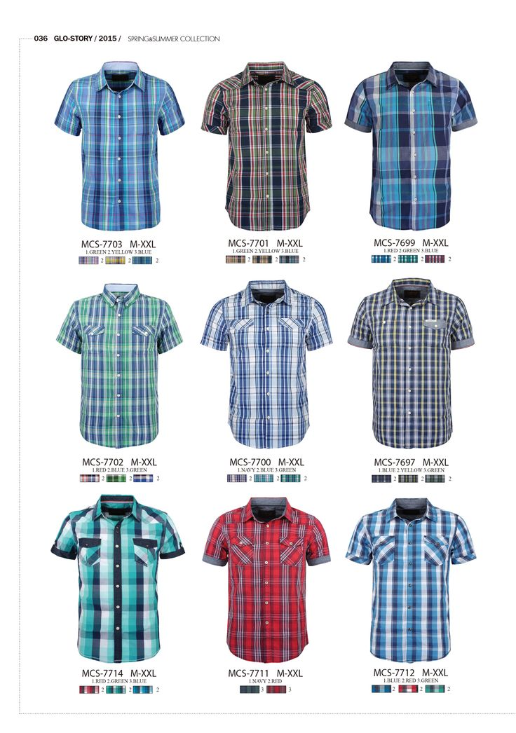 #formen #clothing #fashion #glostory #short #sleeve #shirts #grey #denim #tropical #beachwear #festival #red #blue #green #white #checkered