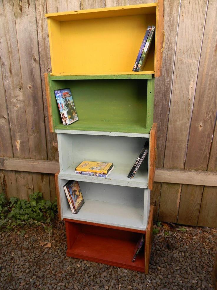 Repurposed Dresser Drawer Repurpose Vintage Old Drawers From Or Chest Into Book Shelves