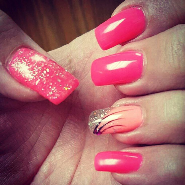 1000+ Ideas About Coral Nails Glitter On Pinterest