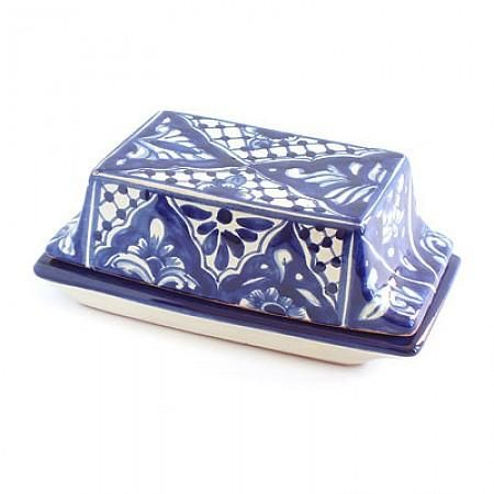 Blue Floral Butter Dish : Emilia Ceramics Combining Functionality With  Authentic Mexican Charm, This Blue