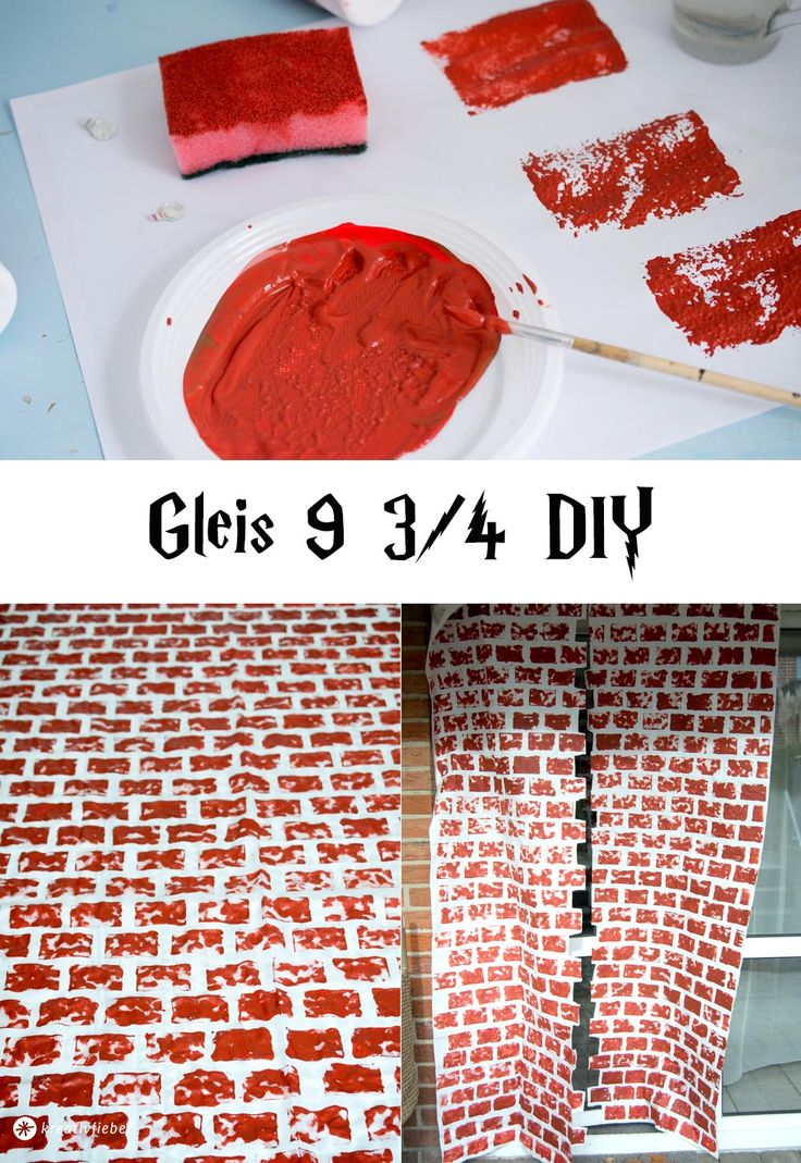 Harry Potter Party DIY Gleis 9 3/4 Idee Partydeko