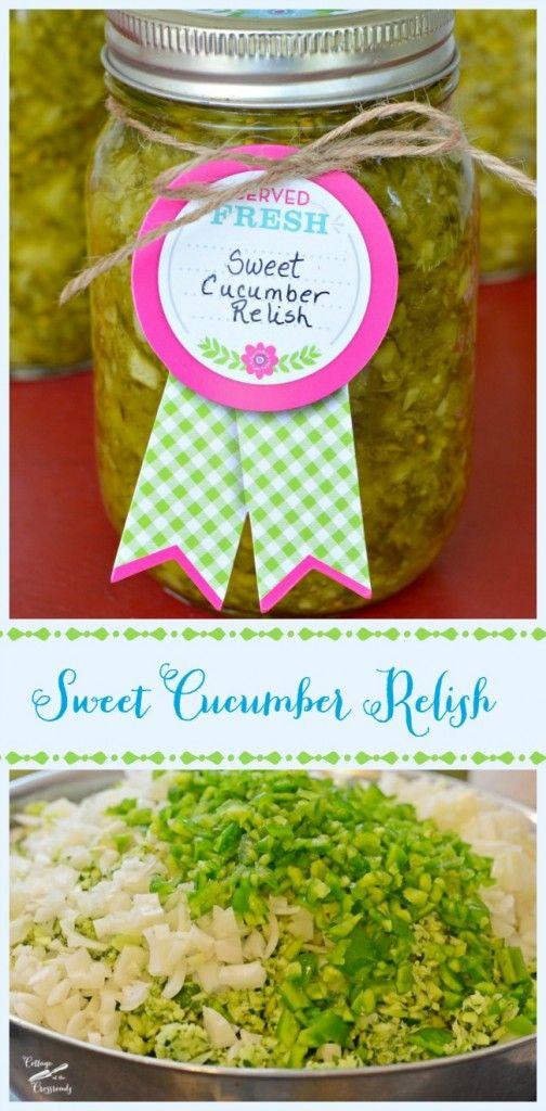 Sweet Cucumber Relish