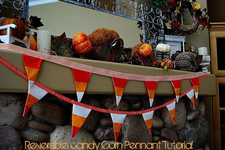 Reversible Candy Corn Bunting