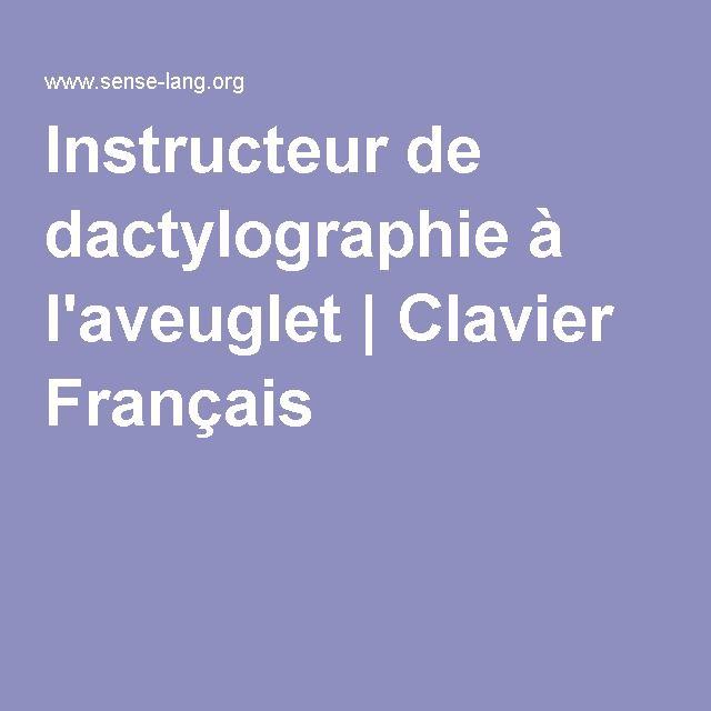 Instructeur de dactylographie à l'aveuglet | Clavier Français