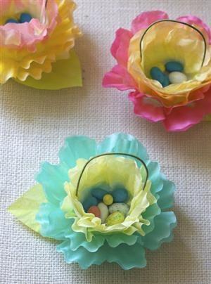 Coffee Filter Flower Baskets