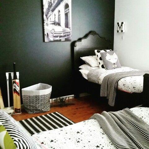 #monochrome boys' bedroom
