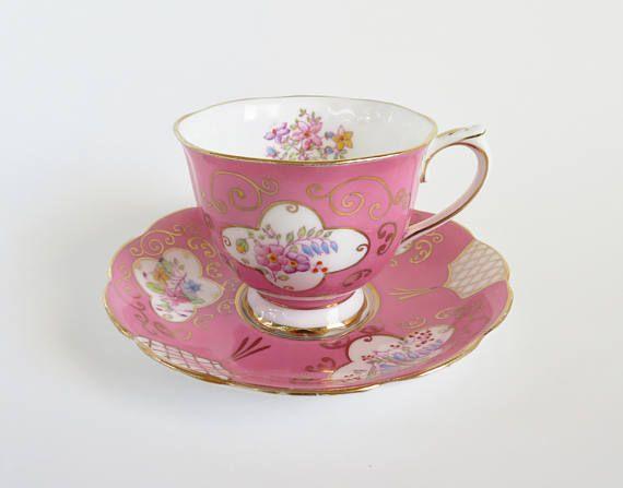 Royal Albert Pink Teacup and Saucer Vintage Royal Albert Bone