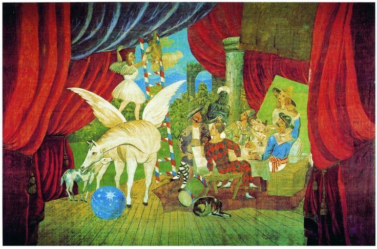Dipinti, disegni, gouache, acquerelli, bozzetti, abiti di scena, le opere supreme di Pablo Picasso, provenienti dai musei di tutto il mondo, celebrano da domani al 22 gennaio alle Scuderie del Quirinale i cento anni dal viaggio in Italia compiuto dall'artista spagnolo nel 1917, al seguito dell'amico Jean Cocteau, per la realizzazione del balletto 'Parade' (il cui gigantesco sipario dipinto è esposto, per la prima volta a Roma, a Palazzo Barberini). U...