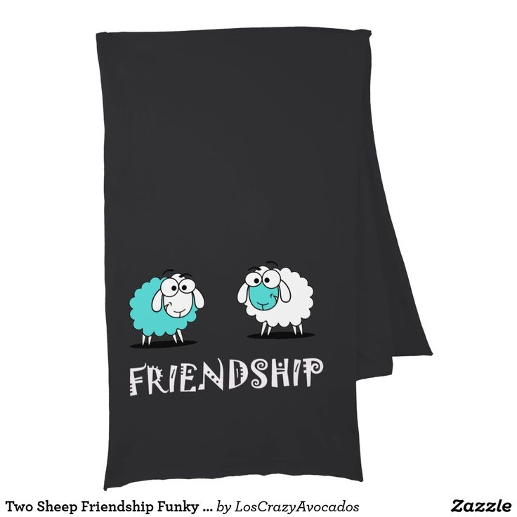 Two Sheep Friendship Funky Soft Jersey Scarf