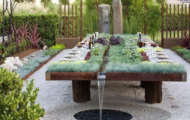 Reddit Gardening Outdoor Table With Integrated Herb Garden