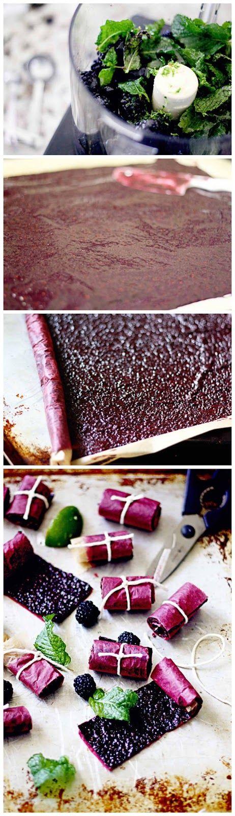 joysama images: Blackberry Mint Lime Fruit Leather
