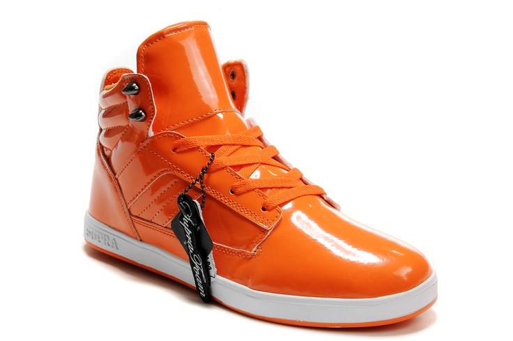 Supra Bandit Mid Orange Shoes