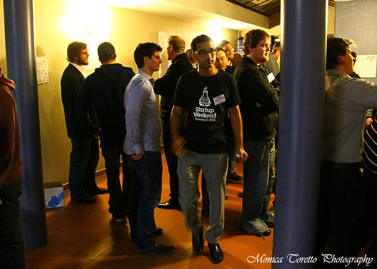 Opening night at the Invercargill Start Up Weekend.  July 26, 2013.