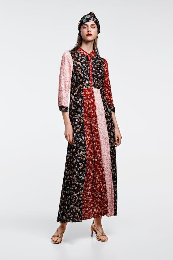 Print Zara Patchwork Print Woman Woman Dress Zara Zara Patchwork Dress Zara Print Patchwork Dress Woman Woman qIwC4nxT8
