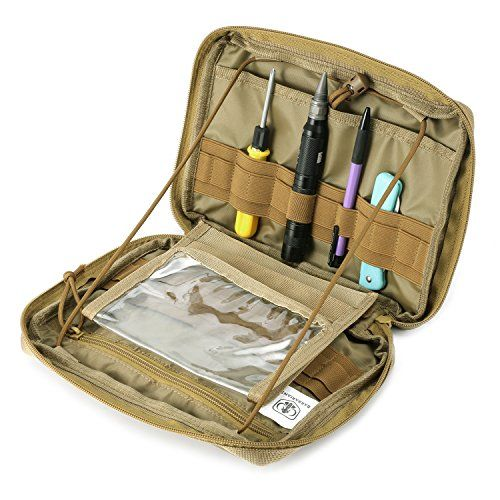 Barbarians Tactical MOLLE Pouch, Multi-Purpose Tool Holder Modular pouch Tan. For product & price info go to:  https://all4hiking.com/products/barbarians-tactical-molle-pouch-multi-purpose-tool-holder-modular-pouch-tan/