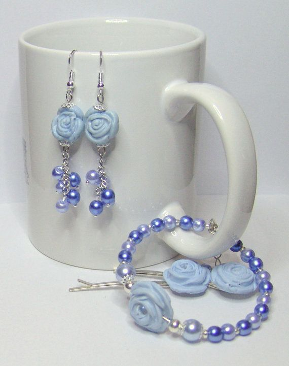 TOUCH the CLOUDS  Earrings Hairpins Bracelet by 1000and1 on Etsy, €12.00