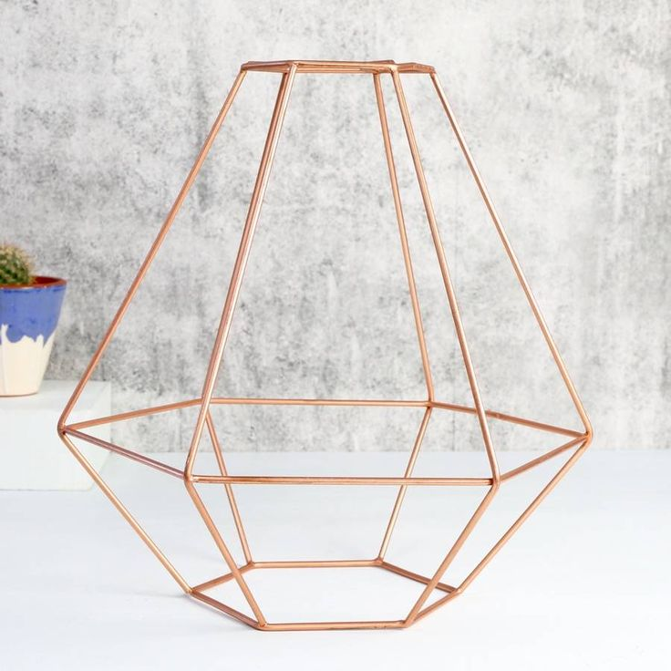 geometric copper lamp shade by lisa angel homeware & gifts | notonthehighstreet.com