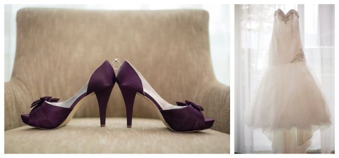 Coal Harbour Purple & White wedding » Vancouver Wedding Photography