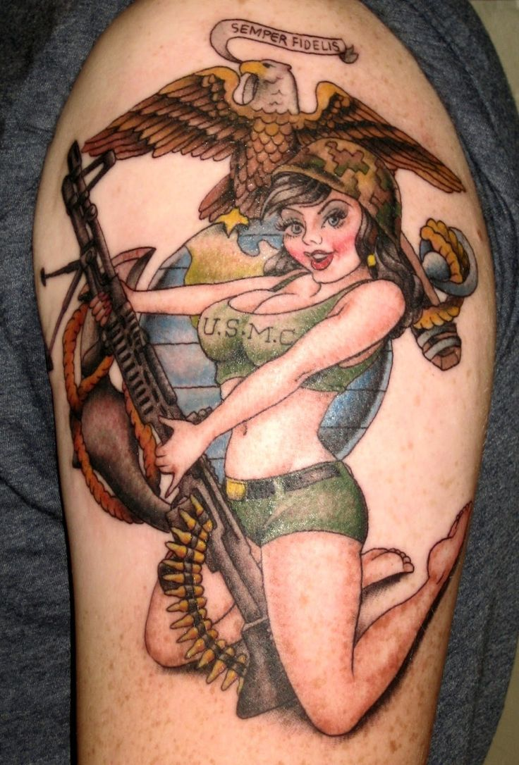 Nude army pin up something