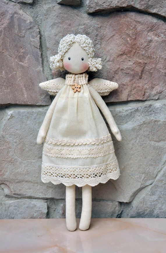 Textil la muñeca muñeca Tilda Tilda angel por NilaDolss en Etsy