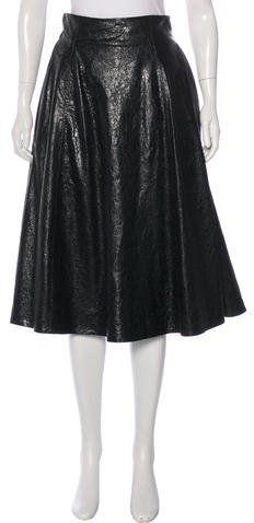 Bottega Veneta Leather A-Line Skirt w/ Tags