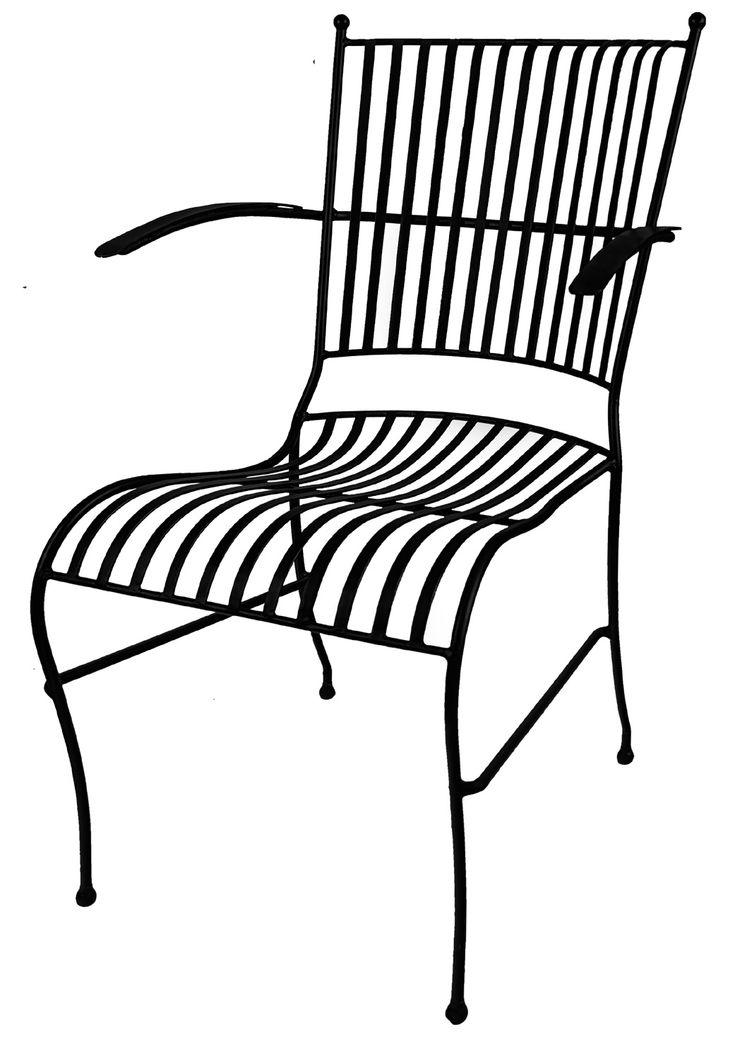 Smide stol med armstöd från Mr Fredrik hos ConfidentLiving.se